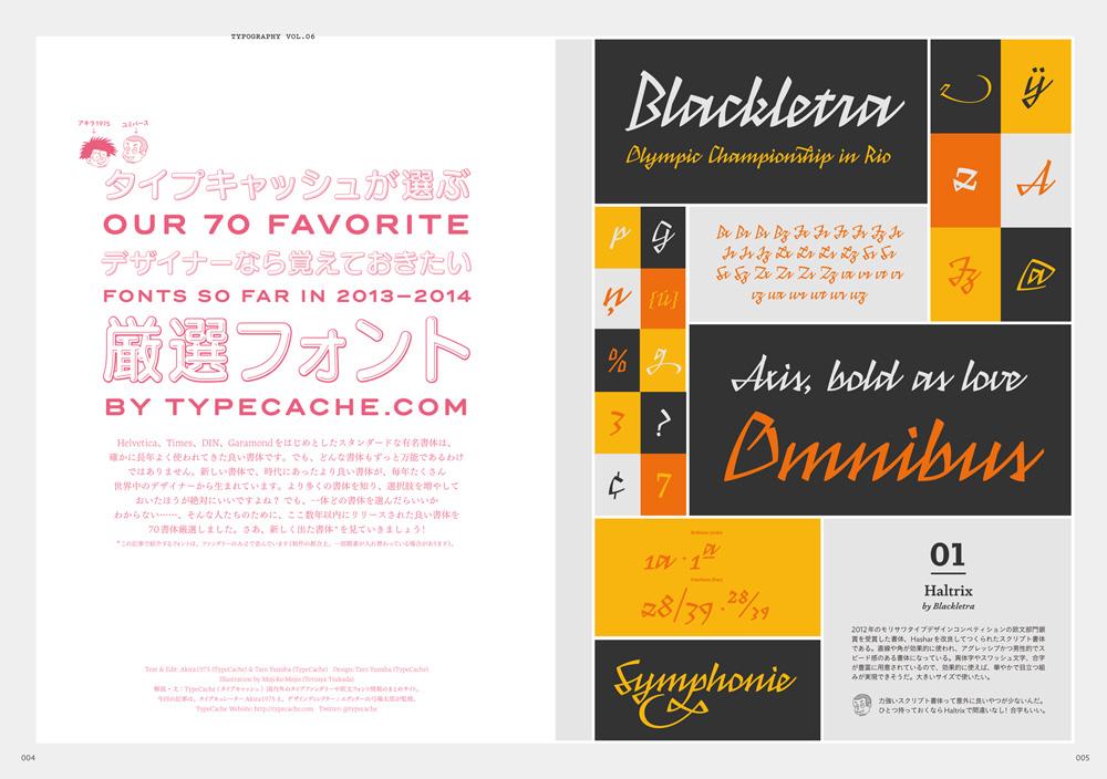Typography 06 誌面サンプル1