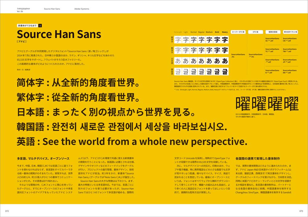 Typography 06 誌面サンプル2